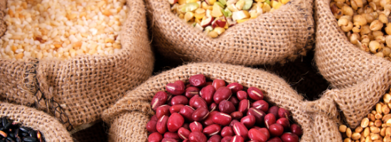 Beans and Whole Grains - Fiber