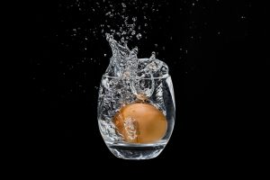 egg in a glass