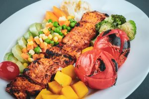 health meal with vegetables on the plate